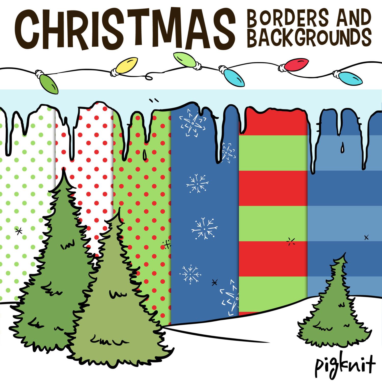 1500x1500 Holiday Snowflake Border Clip Art (30+)