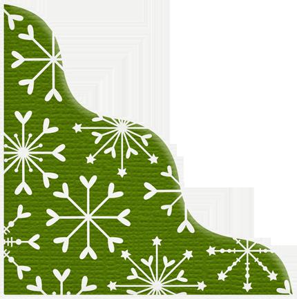 430x434 Green Snowflake Christmas Corner Christmas