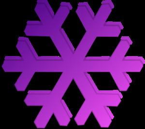 300x267 Purple Snowflake Clip Art