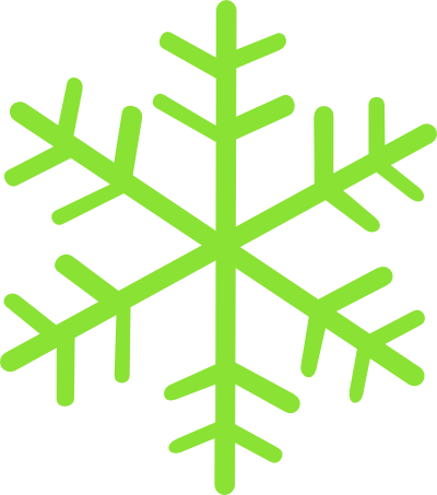 400x453 Red And Green Snowflake Clipart