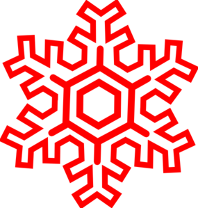 285x299 Red Snowflake Clip Art