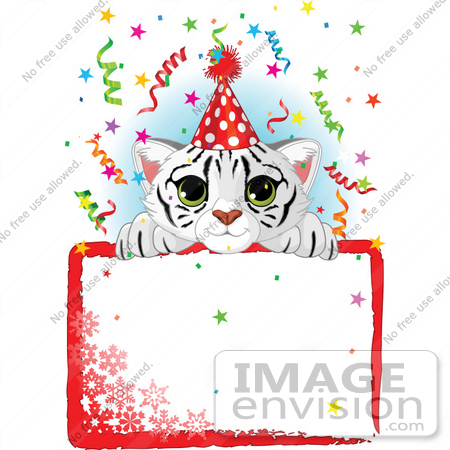 450x450 Royalty Free (Rf) Clip Art Illustration Of A Cute White Tiger