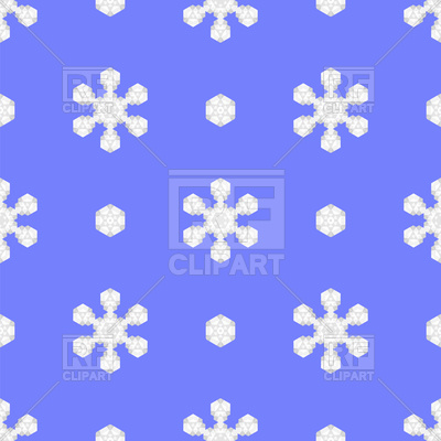 400x400 Seamless Blue Snowflake Pattern Royalty Free Vector Clip Art Image