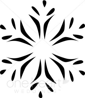 337x388 Snowflake clipart modern