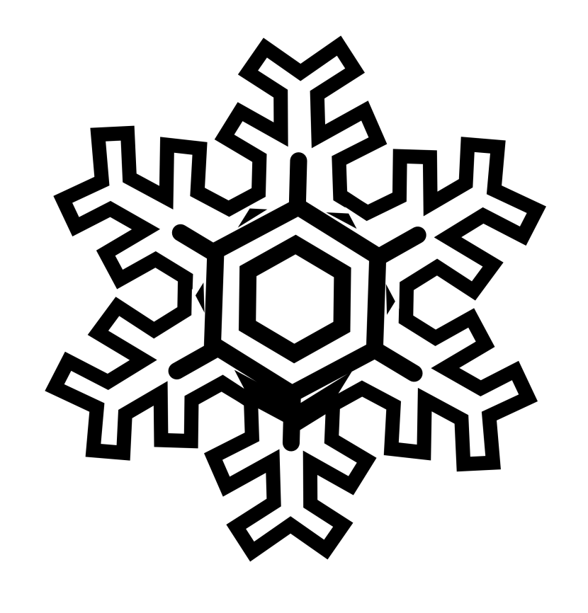 830x866 Snowflakes Snowflake Clipart Black And White Free Clipart