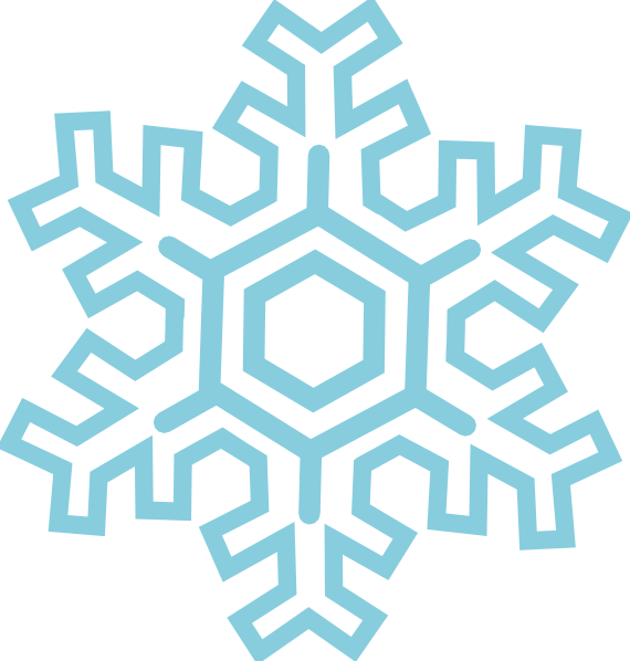 570x598 Stylized Snowflake Clip Art Free Vector 4vector
