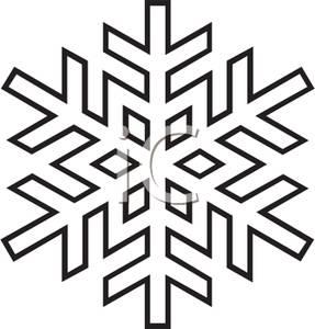 287x300 White Snowflake Clipart ClipArtHut