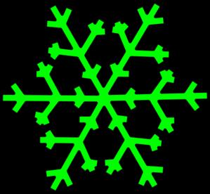 299x276 Green Snowflake Clip Art