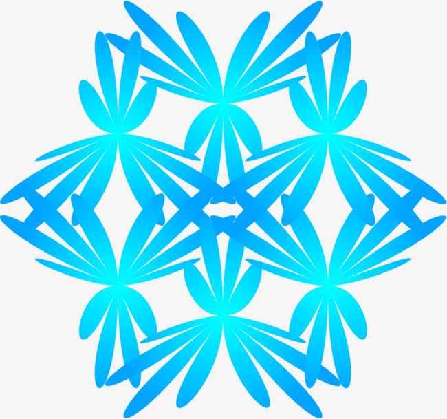 650x609 Little fresh blue snowflake, Little Fresh Snowflake, Watercolor