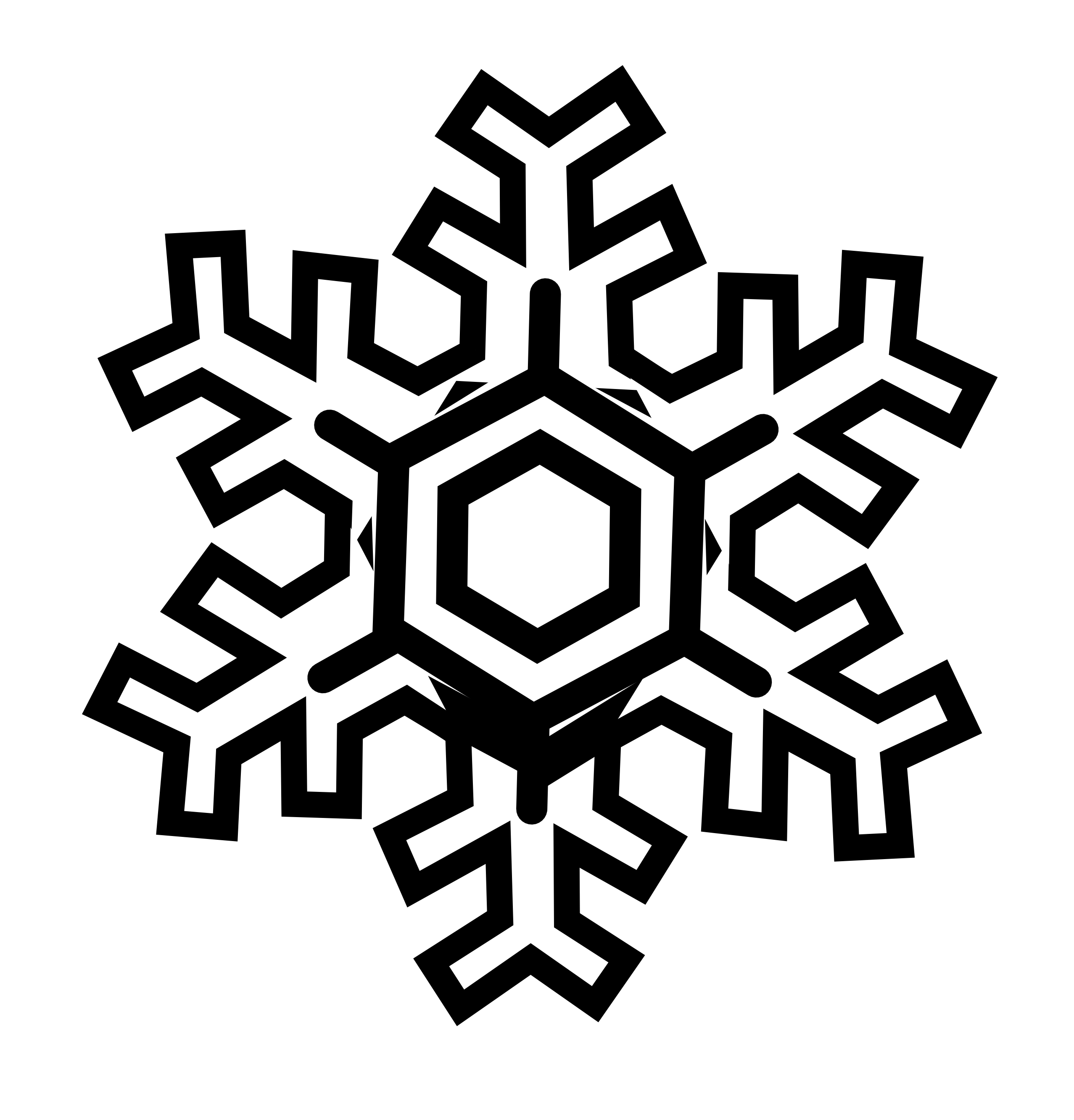 2555x2666 Snowflake Clipart Black And White Snowflake Stylized Black White