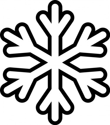 374x425 Snowflake Monochrome vector Clip Art free Vector Free Download