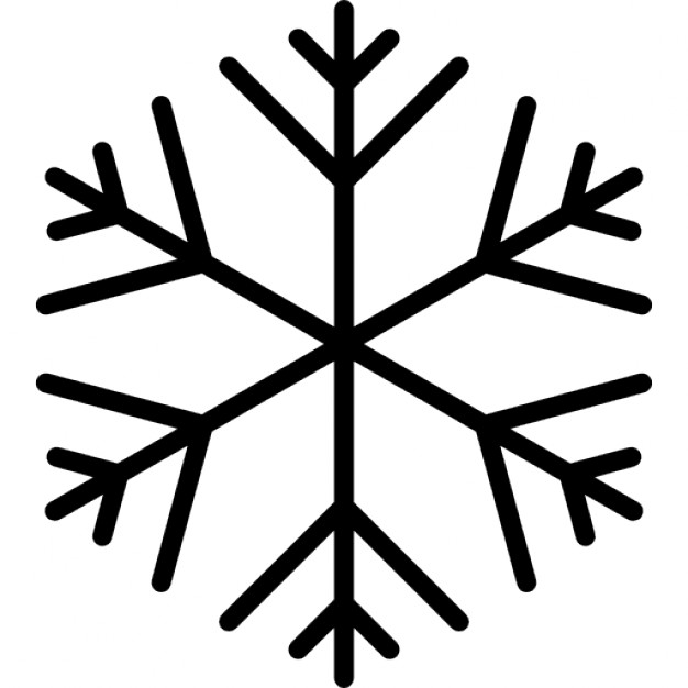 626x626 Snowflake shape Icons Free Download