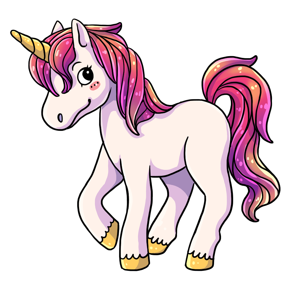 1000x1000 Top 91 Unicorns Clip Art