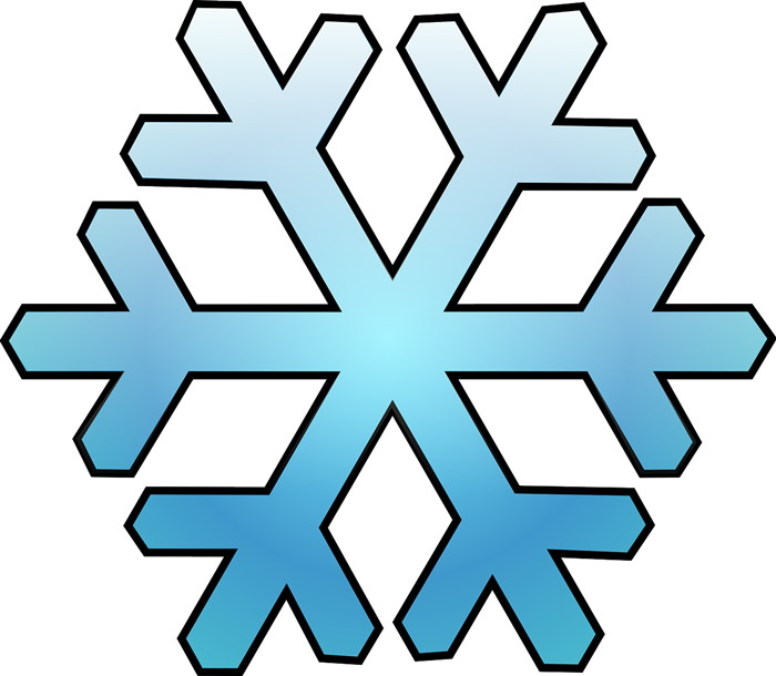 700x610 Clipart Snowflakes