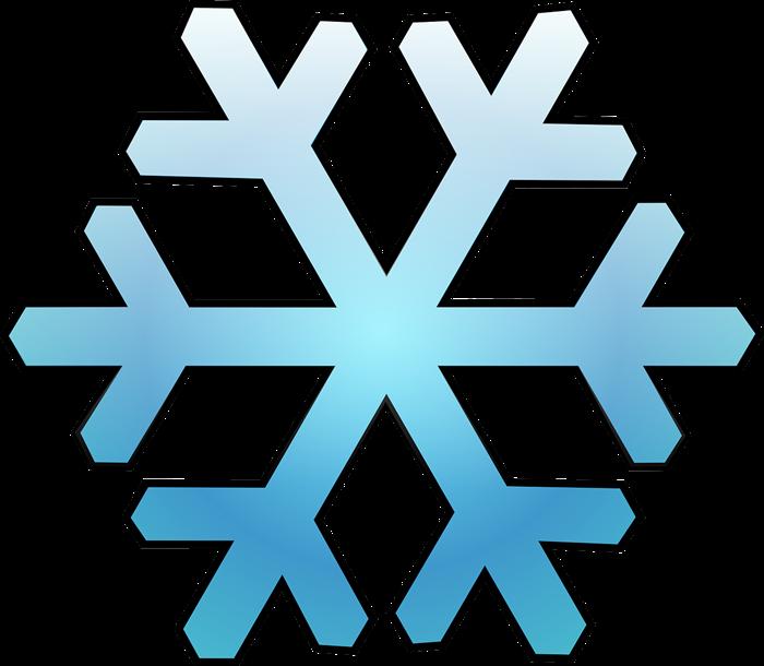 700x610 Clipart Snowflakes