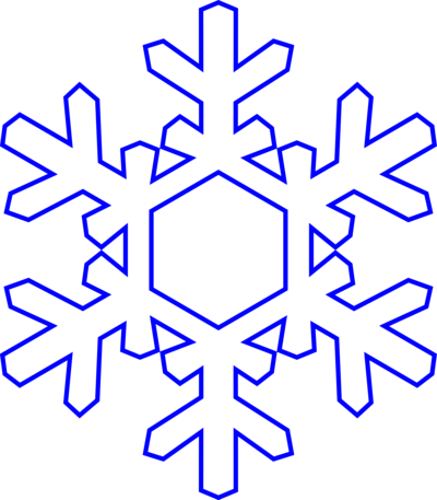 400x457 Free Snowflake Clipart Transparent Background