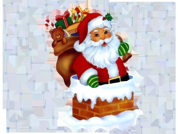 600x450 Transparent Santa Claus with Snowflakes ~ I Believe In Santa! 2