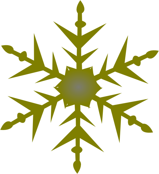 546x597 Gold Snowflake Clipart