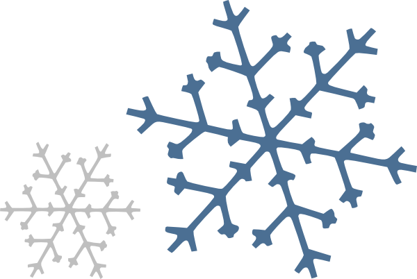 600x402 Gray Snowflake Clipart