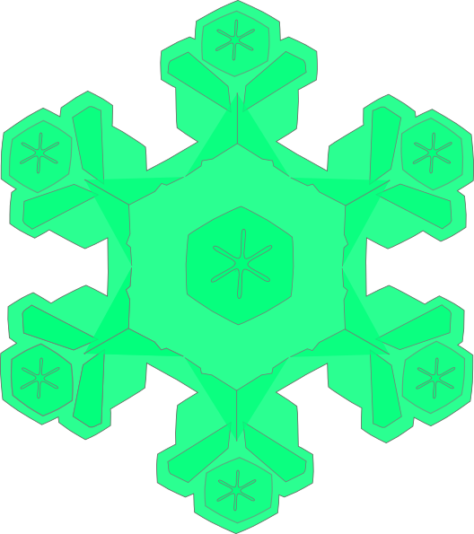 528x595 Green Snowflake Clip Art