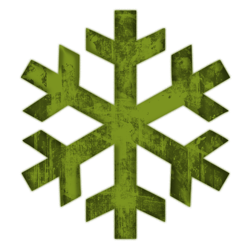 512x512 Green Snowflakes Clipart