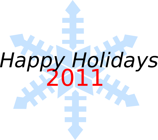 600x534 Happy Holidays Snowflake Clip Art