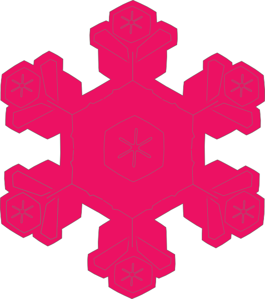528x595 Pink Snowflake Clipart