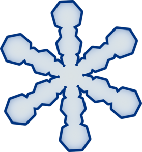 279x299 Simple Snowflake Clip Art