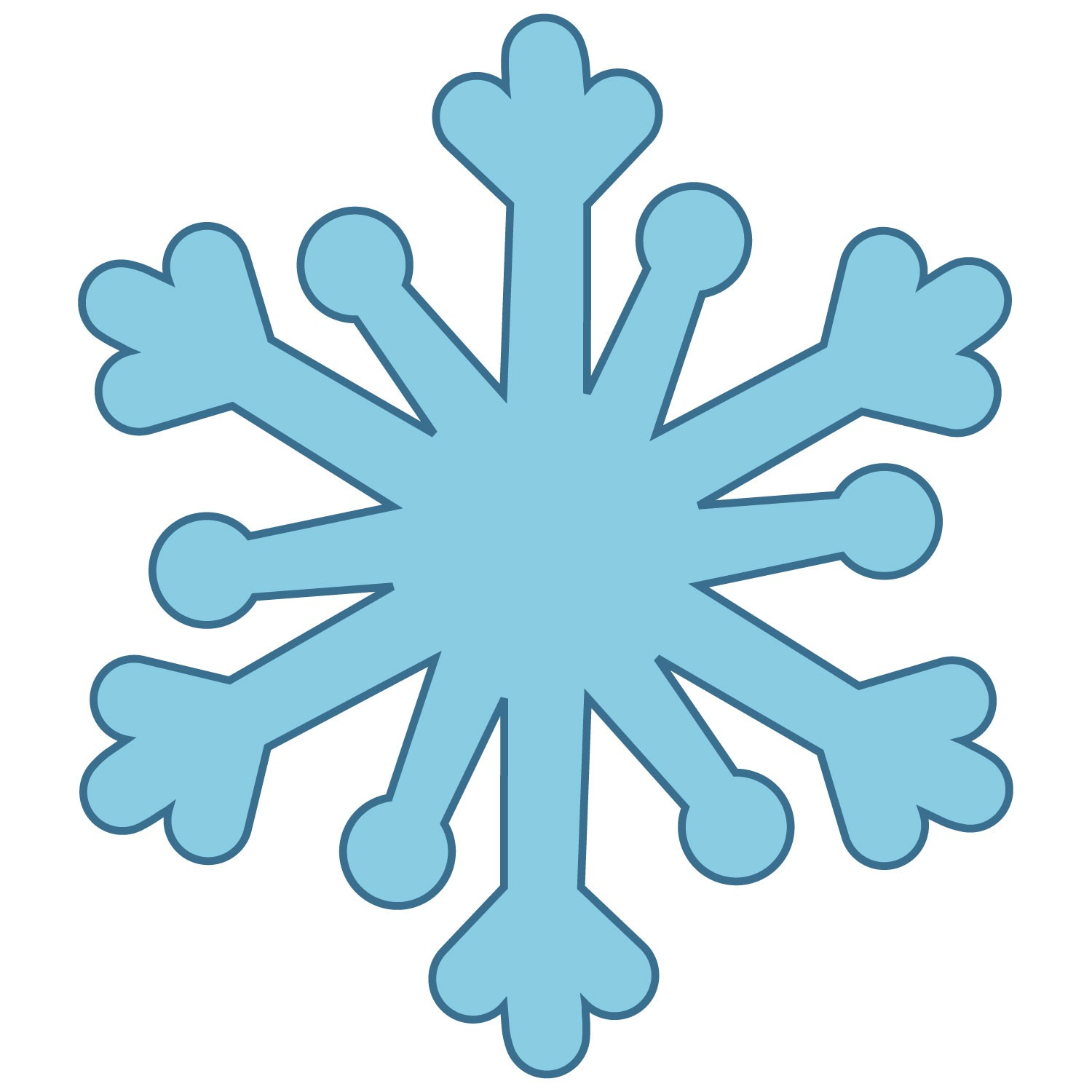 1500x1500 Simple Snowflake Clipart