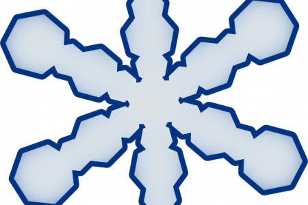 450x300 Snow Falling Clip Art Outline