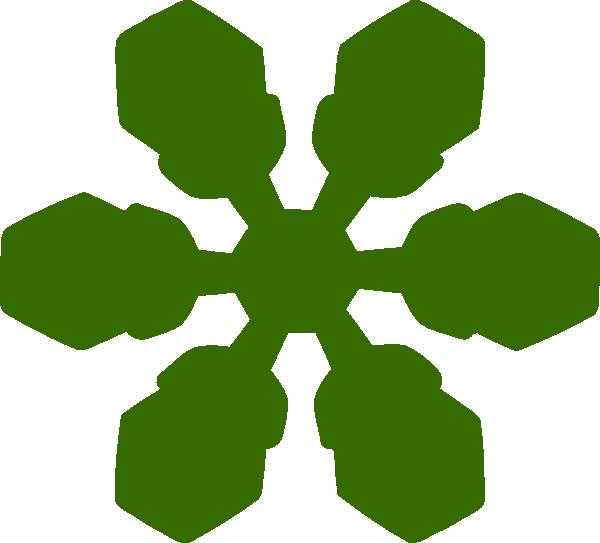 600x543 Snowflake Clip Art