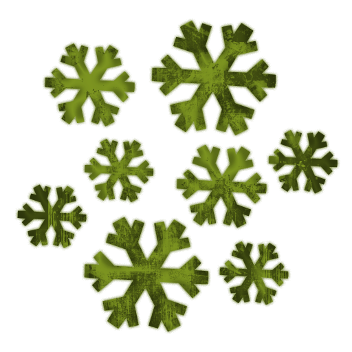 512x512 Snowflake Cluster Clipart