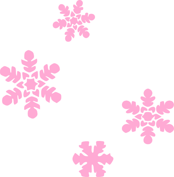 588x599 Snowflakes Light Pink Clip Art