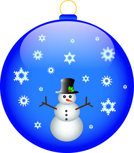 263x300 Snowman And Snowflake Clipart