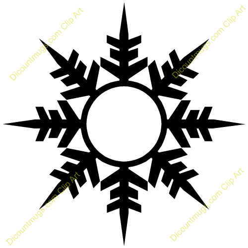 500x500 Free Winter Snowflake Clipart