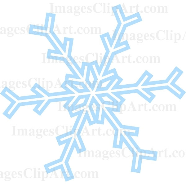 600x600 Free Snowflake Clipart Transparent Background