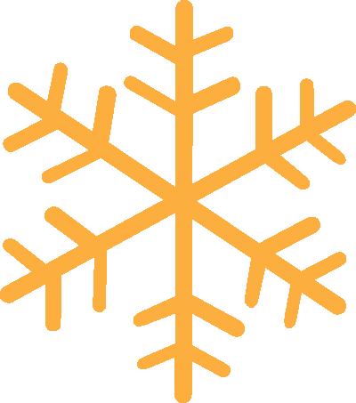 400x453 Snowflake clipart yellow