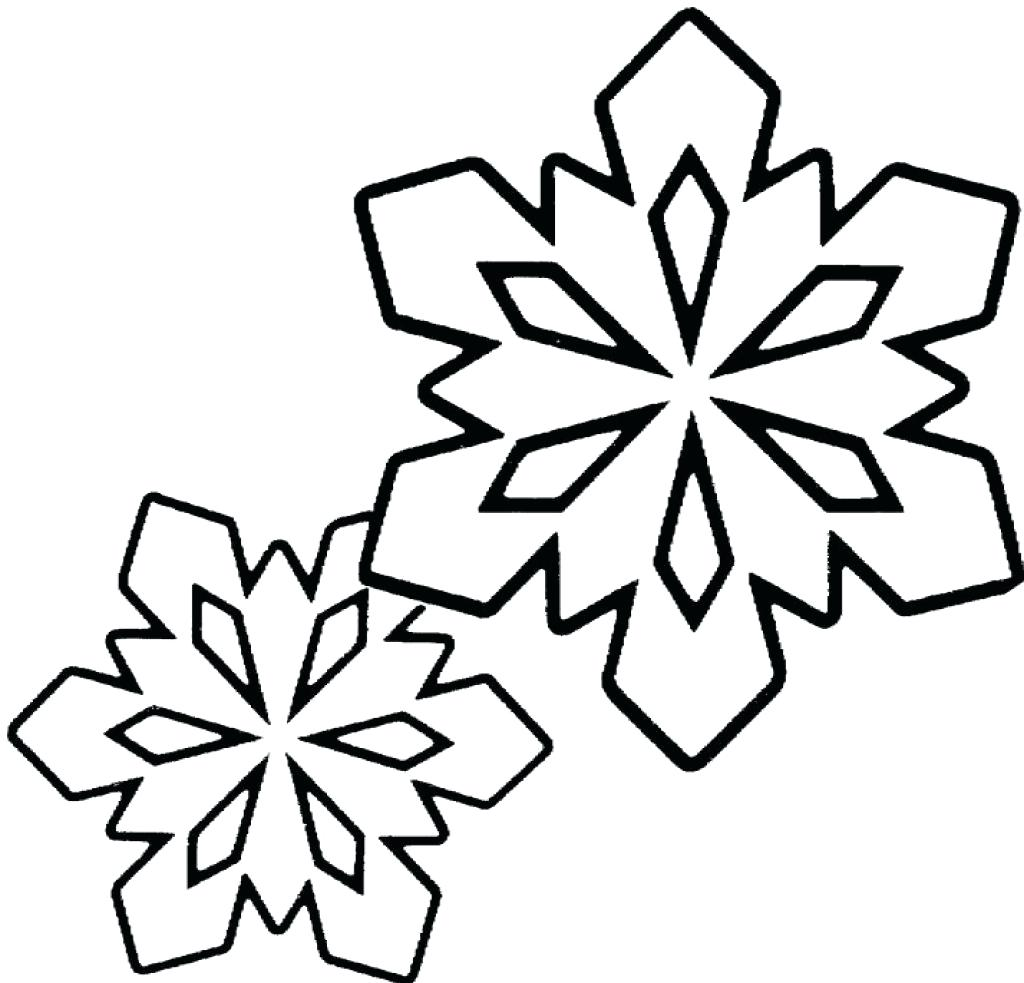 1024x983 Coloring Excellent Snowflake Color Sheet. Christmas Snowflake