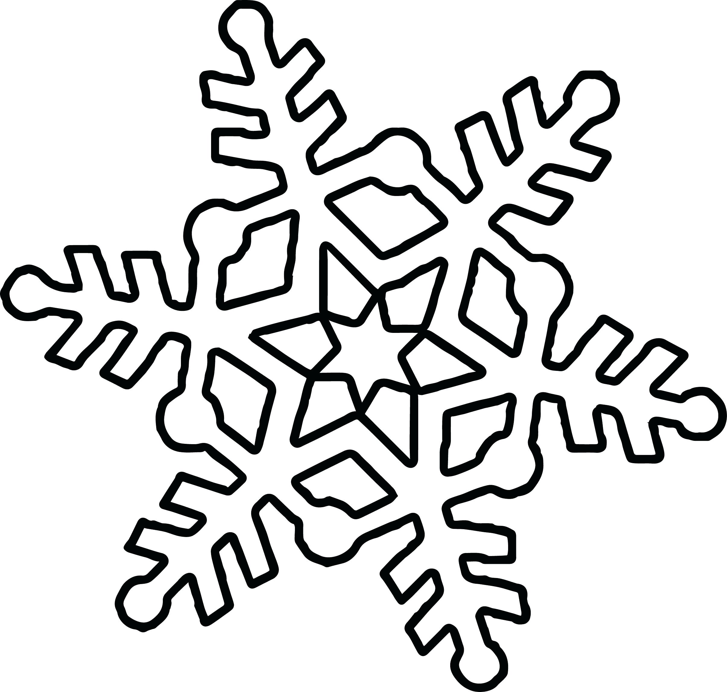 2411x2295 Cute Snowflake Coloring Page Pages For Kindergarten Frozen Mandala