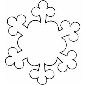 300x300 Ornament Snowflake Coloring Page