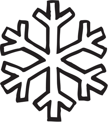 353x400 Simple Snowflake Coloring Page