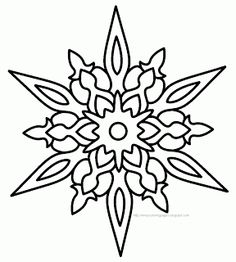 236x262 Snowflake Coloring Page