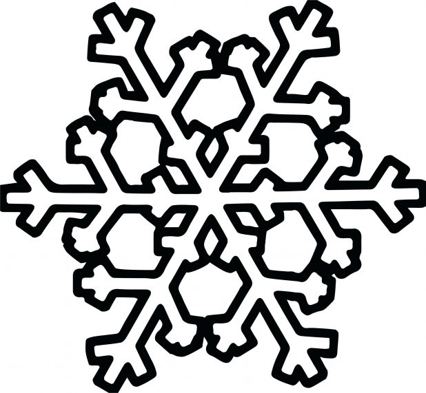 618x571 Snowflake Coloring Page Pages For Adults Pdf Printable Snowflake