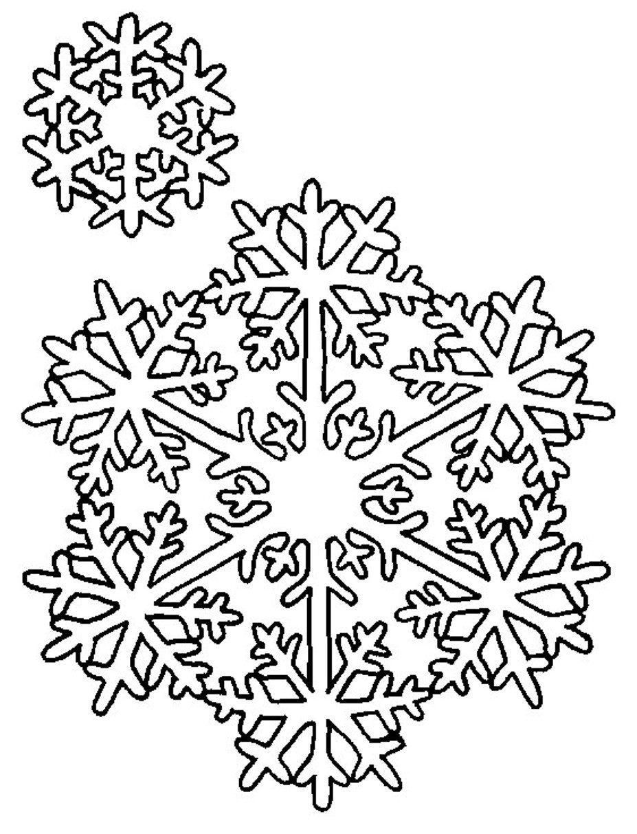 927x1213 Snowflake Coloring Pages Winter Coloring pages of