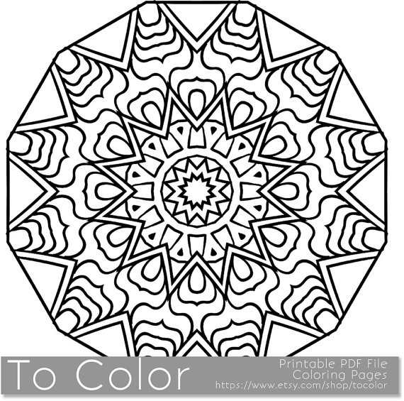 570x565 Snowflake Mandala Coloring Pages Free Images Coloring Snowflake