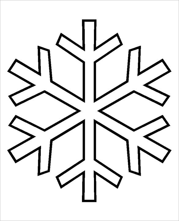 Snowflake Coloring Page Free Download Best Snowflake Coloring Page