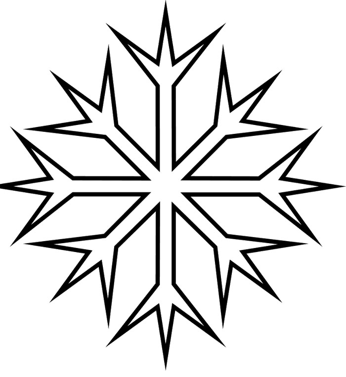 Snowflake Coloring Page | Free download best Snowflake Coloring Page ...