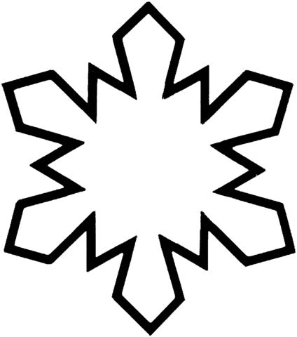 424x480 Best 25+ Snowflake coloring pages ideas Snowflake