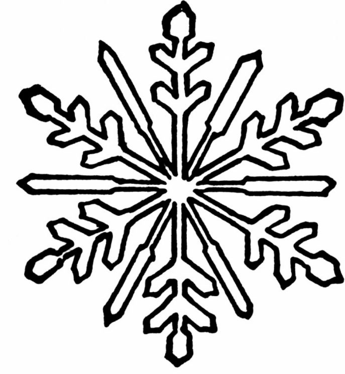 687x745 Coloring Pages Appealing Snowflake Coloring Pages Sweet Idea For