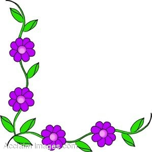 299x300 Clip Art Of A Corner Border Of Flowers